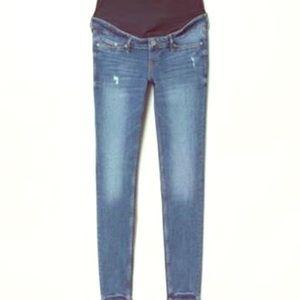 "H&M ""Hot Mama"" skinny maternity jeans w full panel"
